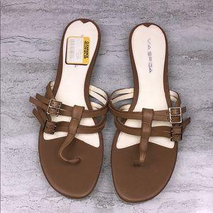 VIA SPIGA Brown Leather Sandals
